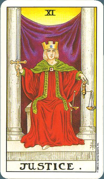 Tarot karta Pravda