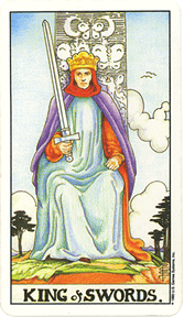 Mala Arkana - Mačevi - tarot karta Kralj