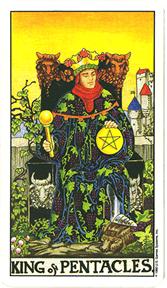 Mala Arkana - Novčići - tarot karta Kralj