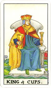 Mala Arkana - Pehari - tarot karta Kralj