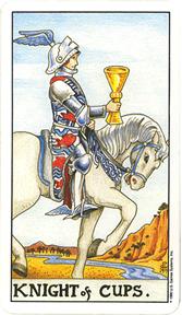 Mala Arkana - Pehari - tarot karta Vitez