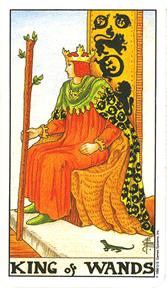 Mala Arkana - Štapovi - tarot karta Kralj